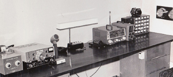 On the right side is the  Heathkit Mohican receiver and oscilloscope at G3JNB in 1971, Rig at the left side is a KW Atlanta.