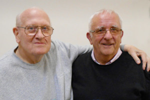 L to R: Vic Ludlow and Geoff Morris