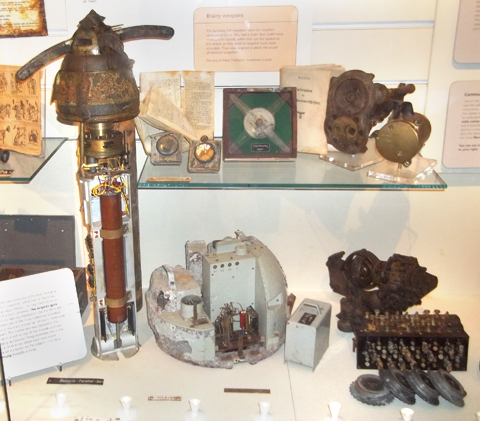 Items on show in museum